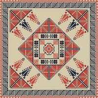 Palestinian embroidery pattern 34