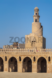 Minaret of Ibn Tulun Mosque, Medieval Cairo, Egypt