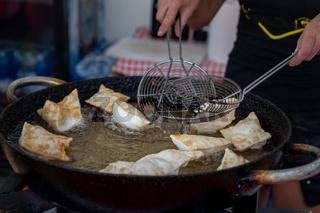 Italian traditional food on the street
