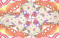 Fractal image : beautiful patterns on bright background.