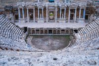 Hierapolis the ancient city in Pamukkale, Turkey