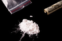 cocaine or other illegal drugs powder in a pile