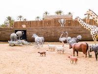 the animals climb on Noah's Ark, prehistoric park in Tunisia, Tozeour