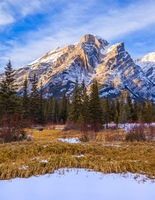 Mount Kidd, a mountain in Kananaskis in the Canadian Rocky Mountains, Alberta