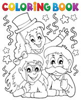 Coloring book party photo booth theme 1