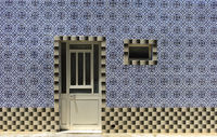Decorative tiles at a residential building, Santa Luzia, Algarve, Portugal