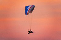 Paragliding in the sunset