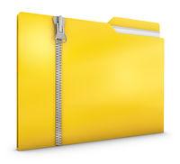 Yellow folder with zipper