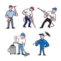 Cleaner Cartoon Set