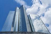 Moderne Hochhäuser Architektur in Frankfurt am Main