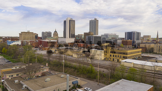 Late Afternoon Light Filtered By Clouds in the Downtown City Center of Fort Wayne Indiana