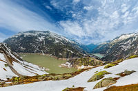 The Grimsel Pass summer landscape with lake, Switzerland