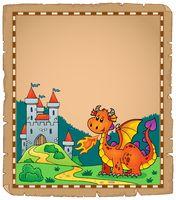 Dragon and castle theme parchment 2