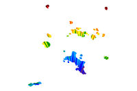 Seychelles - map is designed rainbow abstract colorful pattern, Republic of Seychelles map made of color explosion,