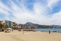 Malagueta Beach in Malaga, Spain