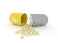 Open capsule with Zn zinc