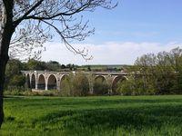 Motorway bridge in Saxony, Germany