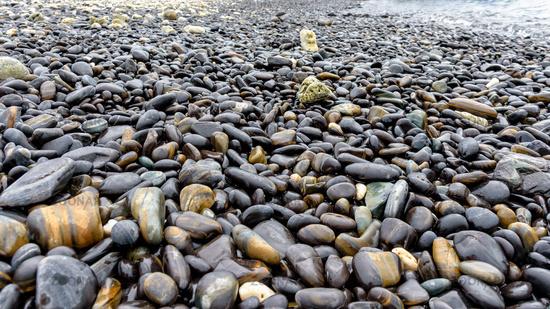 Unusual black rock at Ko Hin Ngam island, Thailand