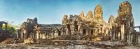 Bayon temple in Angkor Thom. Siem Reap. Cambodia. Panorama