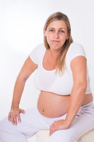Glückliche Schwangere