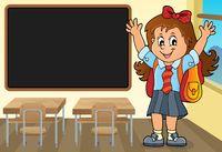 Happy pupil girl theme image 3