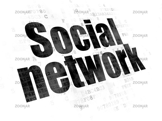 Social Media Concept Network On Digital Background