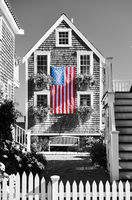 United States flag in Provincetown, Massachusetts