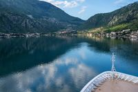 Approaching Kotor on the Bay or Boka in Montenegro