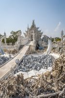 Wat Rong Khun, Chiang Rai White Temple, detail