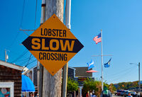 Lobster Crossing Slow fun sign