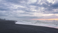Black Sand Beach Landscape at Sunset, Trinidad, California
