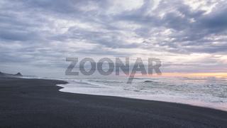 Black Sand Beach Landscape at Sunset, Trinidad, California