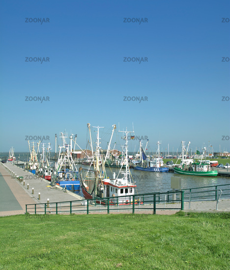 Harbor of Accumersiel near Dornum at North Sea,East Frisia,lower saxony,Germany