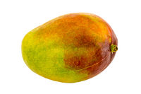 Juicy fruit mango green red fruit close-up on a white background