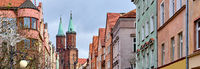 Panoramic image city of Legnica