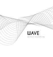 Abstract waves from lines. Blend design. Vector illustration on white