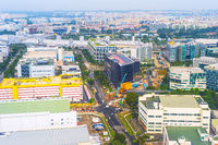 Aerial view Singapore road business