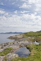 Rocky coast at the Nordsaltenfjord