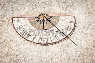 Sundial at church