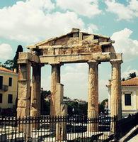 Roman Agora Ruins in Athens, Greece