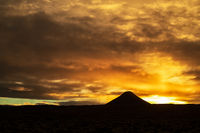 Mount Keilir on sunset near Reykjavik, Iceland