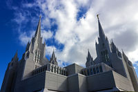 Mormon temple in San Diego.