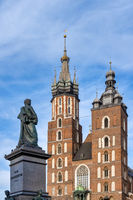 Adam Mickiewicz Monument and Saint Mary Basilica
