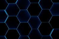 Hexagonal background. 3d background