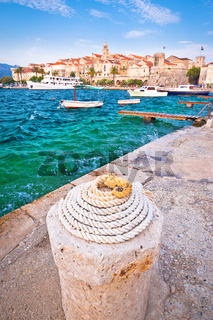 Historic town of Korcula vertical view
