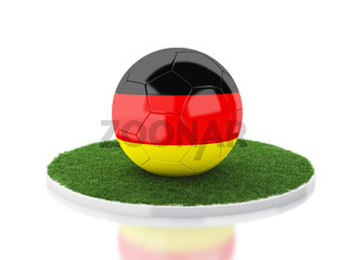 3d Soccer ball with germany flag