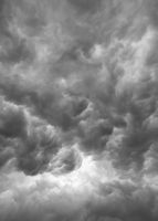 Dark clouds as background