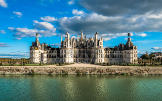 Chateau de Chambord, the largest castle in the Loire Valley, France