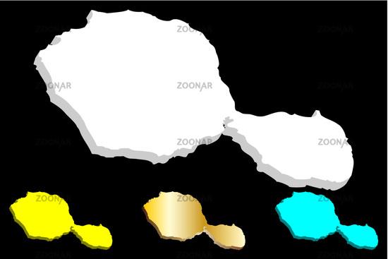 Photo 3D map of Tahiti Image #12403819