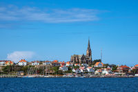 Blick auf die Stadt Lysekil in Schweden